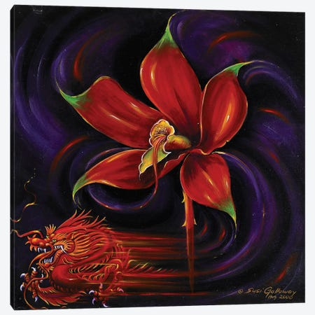 Snap Dragon Canvas Print #SGA5} by Susi Galloway Canvas Art Print
