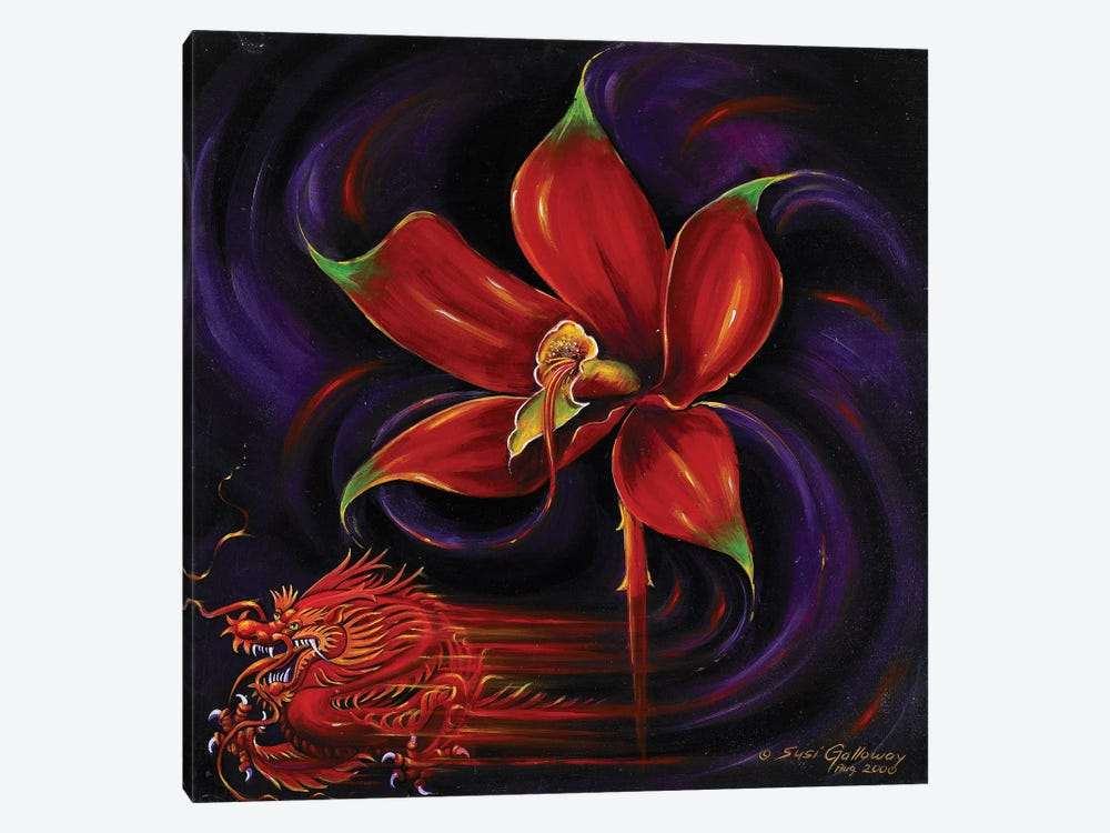 Snap Dragon by Susi Galloway 1-piece Canvas Wall Art