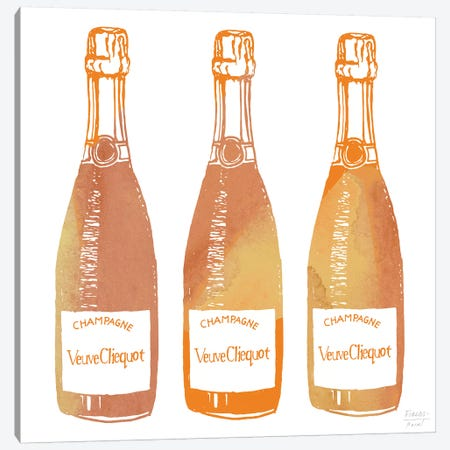 Veuve Cliequot Champagne Canvas Print #SGD101} by Statement Goods Canvas Artwork