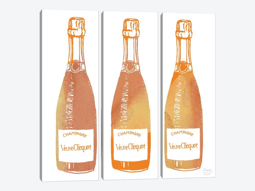 Veuve Cliequot Champagne by Statement Goods 3-piece Canvas Artwork