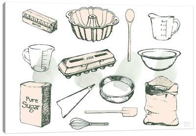Baking Ingredients Canvas Art Print