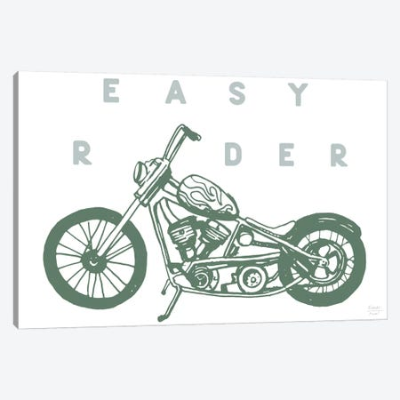 Easy Rider Motorcycle Canvas Print #SGD107} by Statement Goods Canvas Print