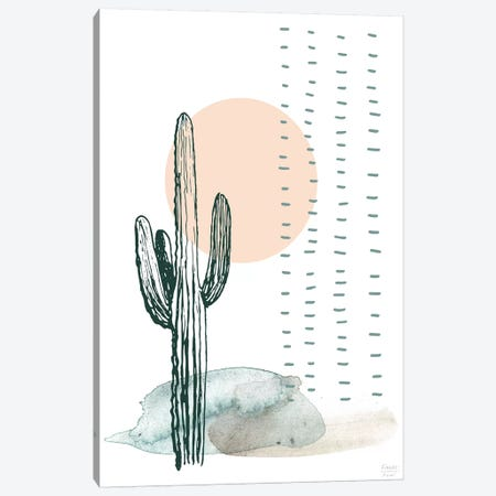 Desert Cactus Canvas Print #SGD108} by Statement Goods Canvas Wall Art