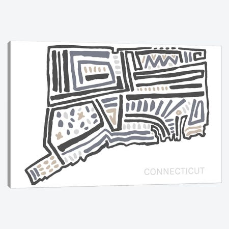 Connecticut Canvas Print #SGD10} by Statement Goods Canvas Print