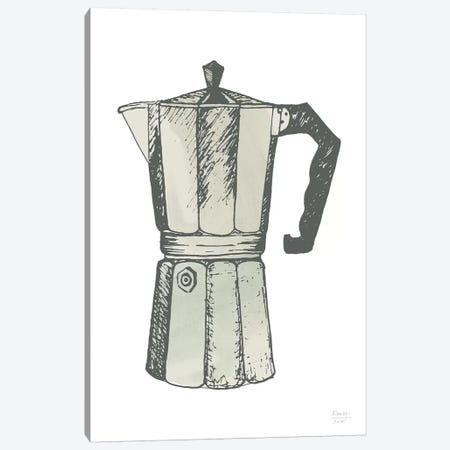 Espresso Coffee Maker Canvas Print #SGD110} by Statement Goods Art Print