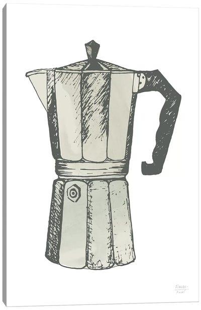 Espresso Coffee Maker Canvas Art Print
