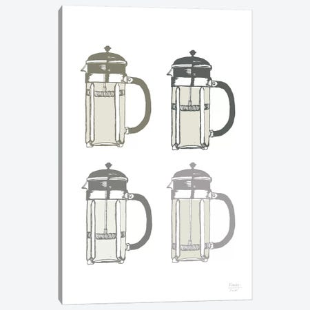French Press Coffee Maker Canvas Print #SGD111} by Statement Goods Art Print