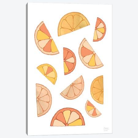 Orange Slices Canvas Print #SGD122} by Statement Goods Canvas Art
