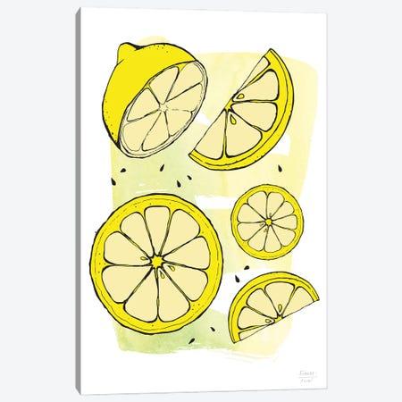 Fantastic Lemons Canvas Print #SGD128} by Statement Goods Canvas Art