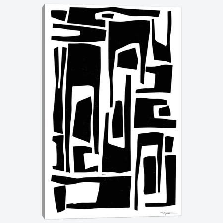 Elongated Modern And Abstract Shapes Canvas Print #SGD15} by Statement Goods Canvas Artwork