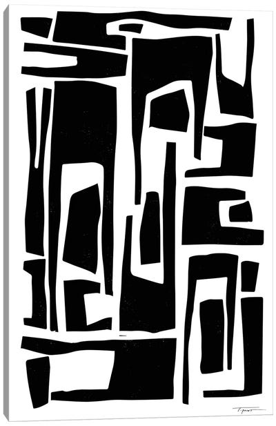 Elongated Modern And Abstract Shapes Canvas Art Print