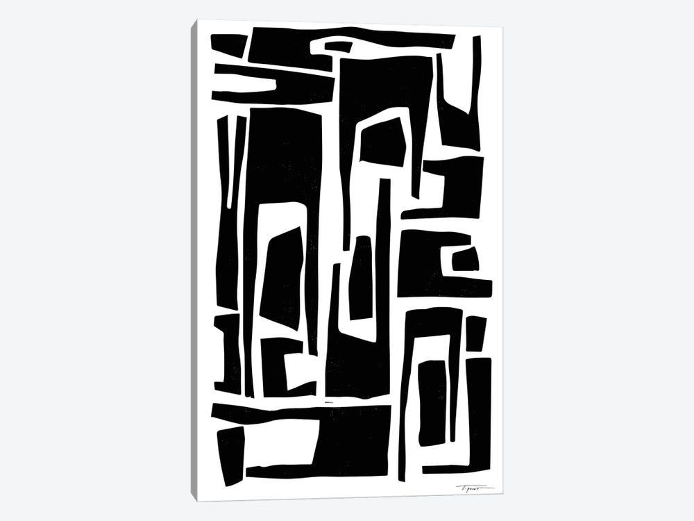 Elongated Modern And Abstract Shapes by Statement Goods 1-piece Canvas Print
