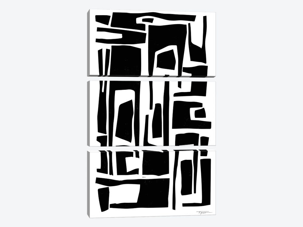 Elongated Modern And Abstract Shapes by Statement Goods 3-piece Art Print