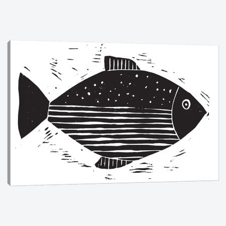 Fish With Lines And Dots Canvas Print #SGD16} by Statement Goods Canvas Wall Art