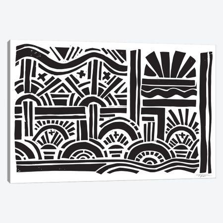 Geometric Sunburst Canvas Print #SGD20} by Statement Goods Canvas Wall Art