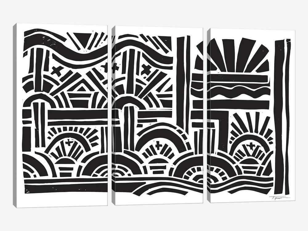 Geometric Sunburst by Statement Goods 3-piece Canvas Art Print