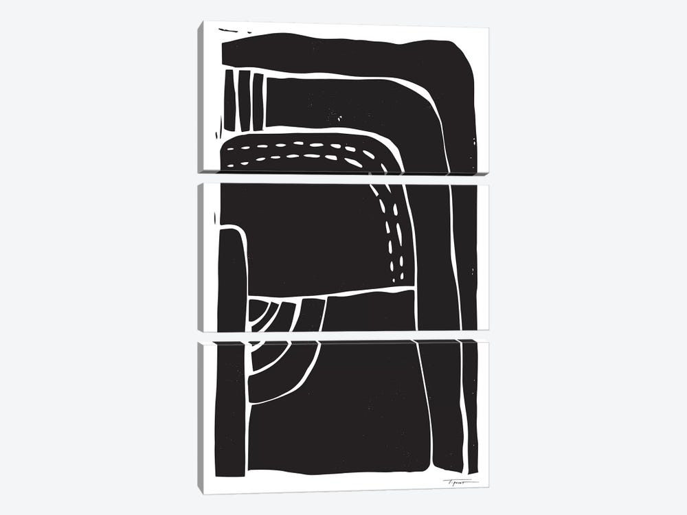 Heavy Minimalist Shapes by Statement Goods 3-piece Canvas Art Print