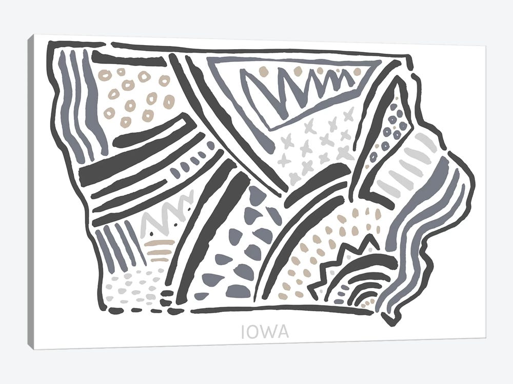 Iowa 1-piece Canvas Art Print