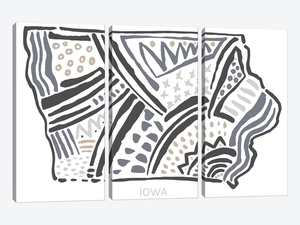 Iowa by Statement Goods 3-piece Art Print