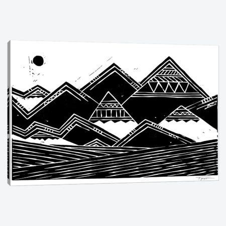 Abstract Mountains Canvas Print #SGD2} by Statement Goods Art Print