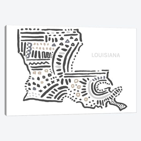 Louisiana Canvas Print #SGD34} by Statement Goods Canvas Art
