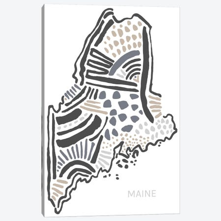 Maine Canvas Print #SGD35} by Statement Goods Canvas Wall Art