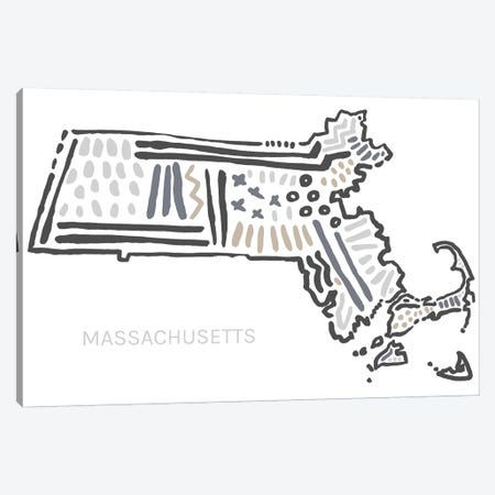 Massachusetts Canvas Print #SGD37} by Statement Goods Canvas Art