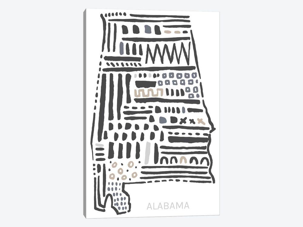 Alabama by Statement Goods 1-piece Canvas Print