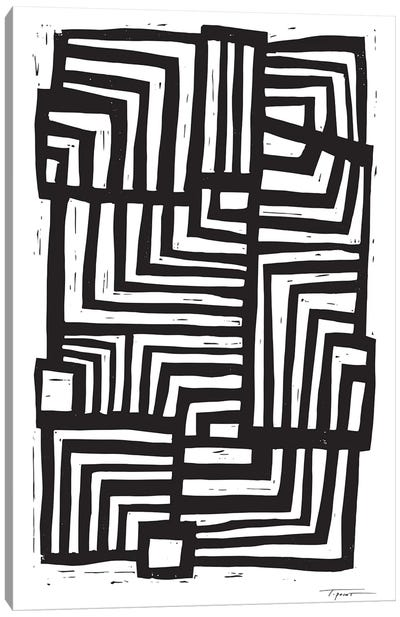 Moving Lines Canvas Art Print