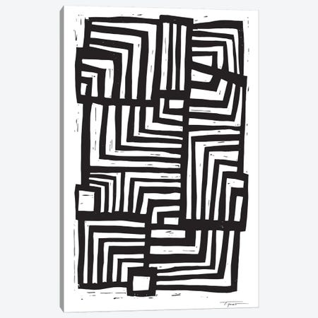 Moving Lines Canvas Print #SGD45} by Statement Goods Art Print