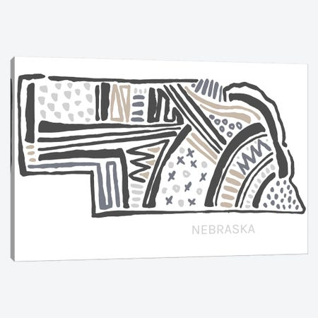 Nebraska Canvas Print #SGD47} by Statement Goods Art Print