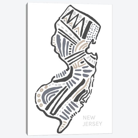 New Jersey Canvas Print #SGD50} by Statement Goods Canvas Art Print