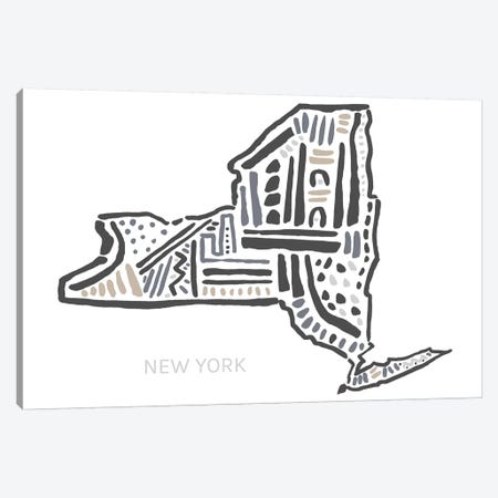 New York Canvas Print #SGD52} by Statement Goods Art Print