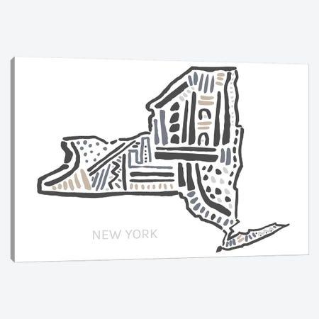 New York Canvas Print #SGD52} by Statement Goods Art Print