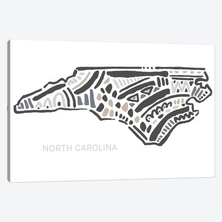 North Carolina Canvas Print #SGD53} by Statement Goods Canvas Print