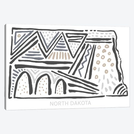 North Dakota Canvas Print #SGD54} by Statement Goods Canvas Artwork