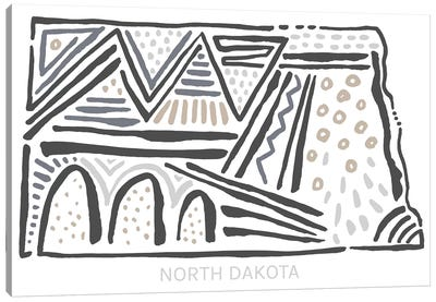 North Dakota Canvas Art Print