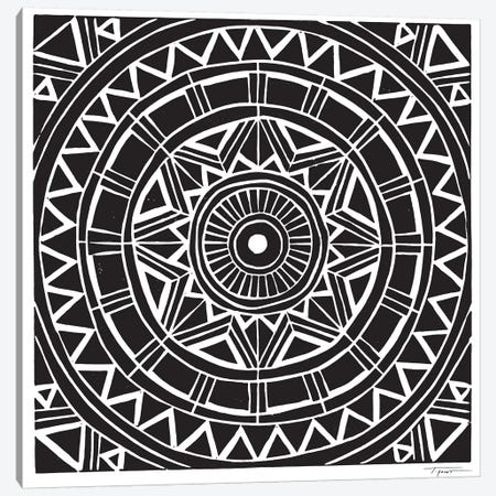 Radial Tribal Design Canvas Print #SGD60} by Statement Goods Canvas Art