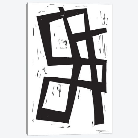 Simple Intersecting Lines Canvas Print #SGD62} by Statement Goods Canvas Wall Art