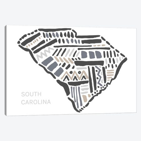 South Carolina Canvas Print #SGD63} by Statement Goods Canvas Art