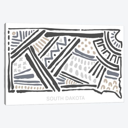 South Dakota Canvas Print #SGD64} by Statement Goods Canvas Print