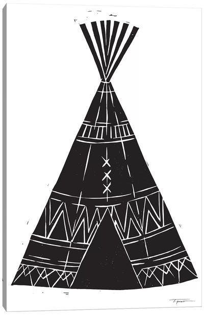 Tee Pee With Tribal Patterns Canvas Art Print