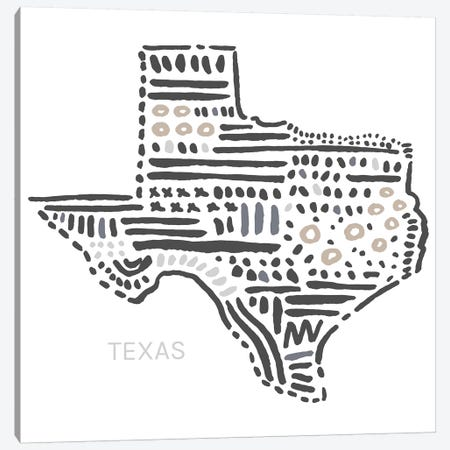 Texas Canvas Print #SGD69} by Statement Goods Canvas Art