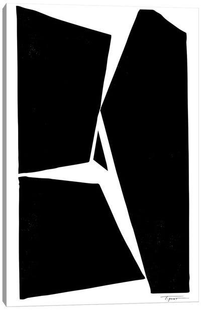 Three Minimalist Geometric Forms Canvas Art Print