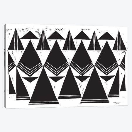 Triangles That Repeat Canvas Print #SGD73} by Statement Goods Canvas Print