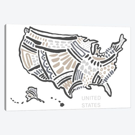 USA Canvas Print #SGD74} by Statement Goods Canvas Artwork