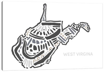 West Virginia Canvas Art Print