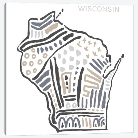 Wisconsin Canvas Print #SGD81} by Statement Goods Canvas Wall Art