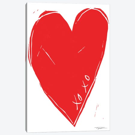 XOXO Heart Canvas Print #SGD83} by Statement Goods Canvas Artwork