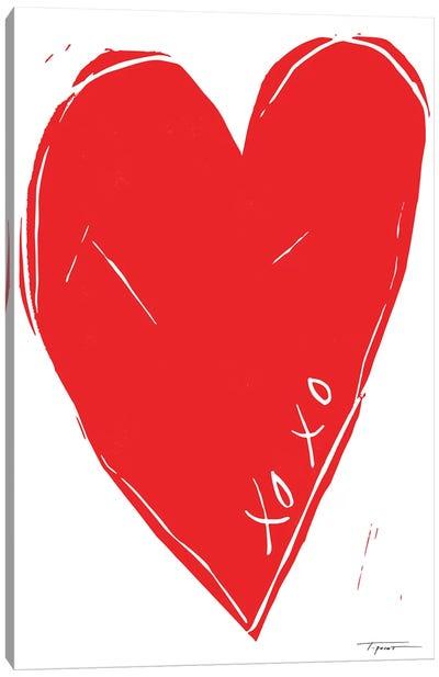 XOXO Heart Canvas Art Print